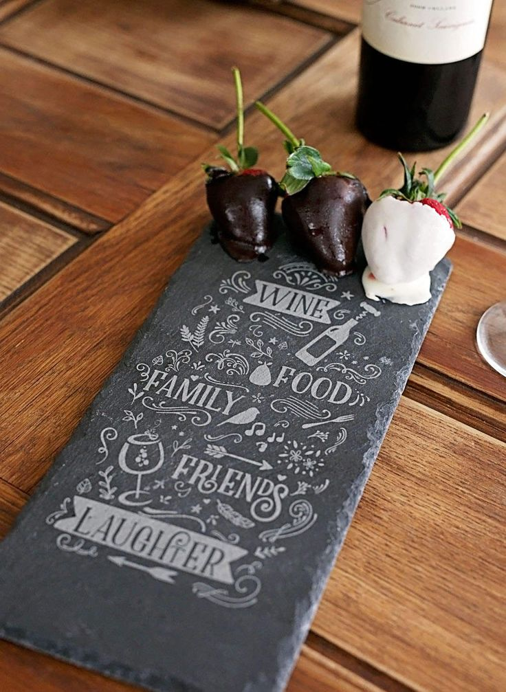 """5x12""""  engraved slate cheese board, chalkboard, birthday, gift for her, engagement, anniversary, wedding, housewarming, personalized custom by Dogtowncollectibles on Etsy"""