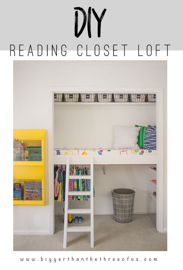 This tutorial will show you how to build a DIY Reading Loft in the closet for under $75!