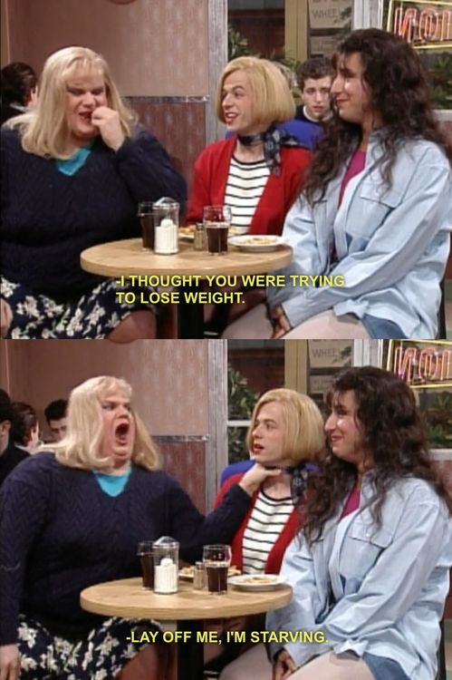 hahhahahaha Chris Farley! And Adam Sandler is trying not to laugh in the bottom shot... love it!