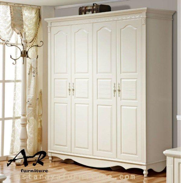 Lemari Pakaian Minimalis 4 Pintu Furniture Jepara