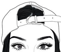 Inspiring image drawing, eyebrows, grunge, hat, outlines, tumblr #3882514 by olga_b - Resolution 500x498px - Find the image to your taste