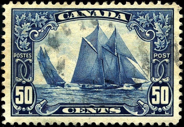 """""""Bluenose"""", considered the finest Canadian stamp."""