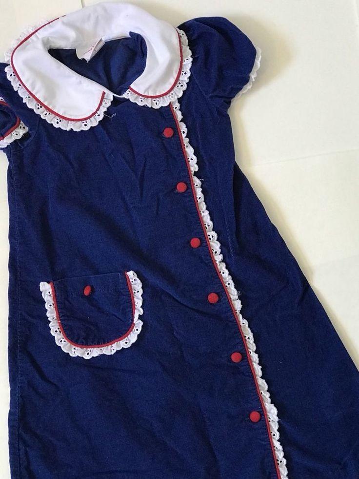 GIRLS SHRIMP AND GRITS KIDS BLUE CORDUROY DRESS SIZE 5 **EEUC**  | eBay
