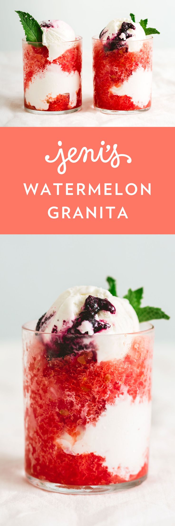How do you outwit the hot and sultry dog days of summer? With wonderfully flaky, melt-in-your-mouth granita, an icy dessert made with fruit and water. We love making granitas with whatever fruit we have on hand—enjoying the granita on its own like the best-ever snow cone, or adding ice cream or buttermilk frozen yogurt to create a light and refreshing parfait-like sundae.