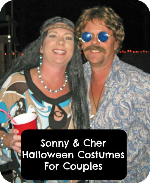 Sonny and Cher Halloween Costumes For Couples Are Far Out, Man! Those who were around in the 60's and 70's remember Sonny and Cher with lots of affection.