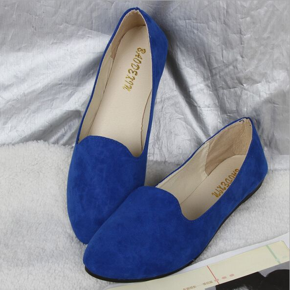2016 Free Shipping Plus Size 42 Super Soft Ladies Blue Color Point Toe Summer Slip On Women Flat Shoes YKA 8-in Women's Flats from Shoes on Aliexpress.com | Alibaba Group