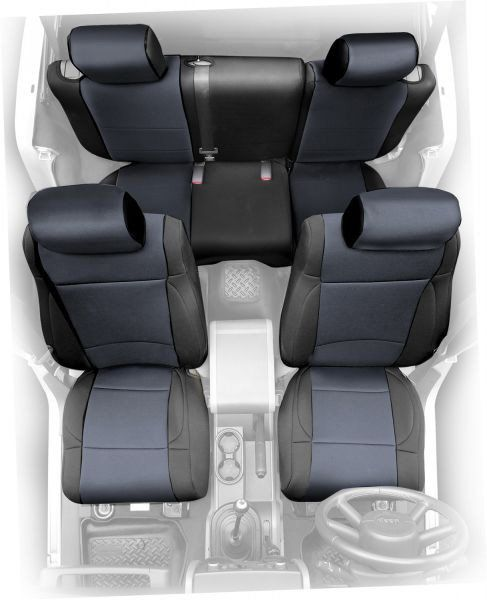 Smittybilt Front Neoprene Seat Covers with FREE Rear Cover for 91-95 Jeep® Wrangler YJ   Quadratec