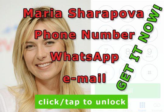 maria sharapova phone number  http://celebritiesmovie.com/celebrities-detail/maria-sharapova-phone-number-leaked/