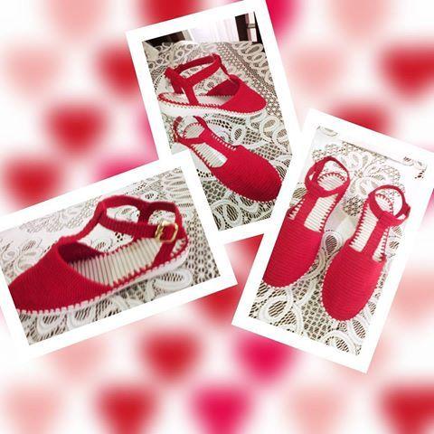 Красные сандалии.👠👡  #ручной#hechoamano #rojito #размеры #цвета #! hechoencolombia#ткани#Крош#женские.
