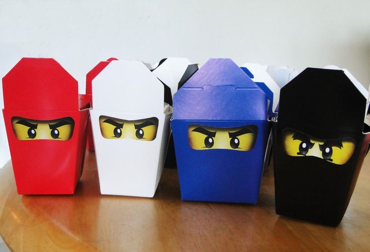 Ninjago Birthday Party + Free Ninjago Party Printables ~ Ninjago Take-out Boxes