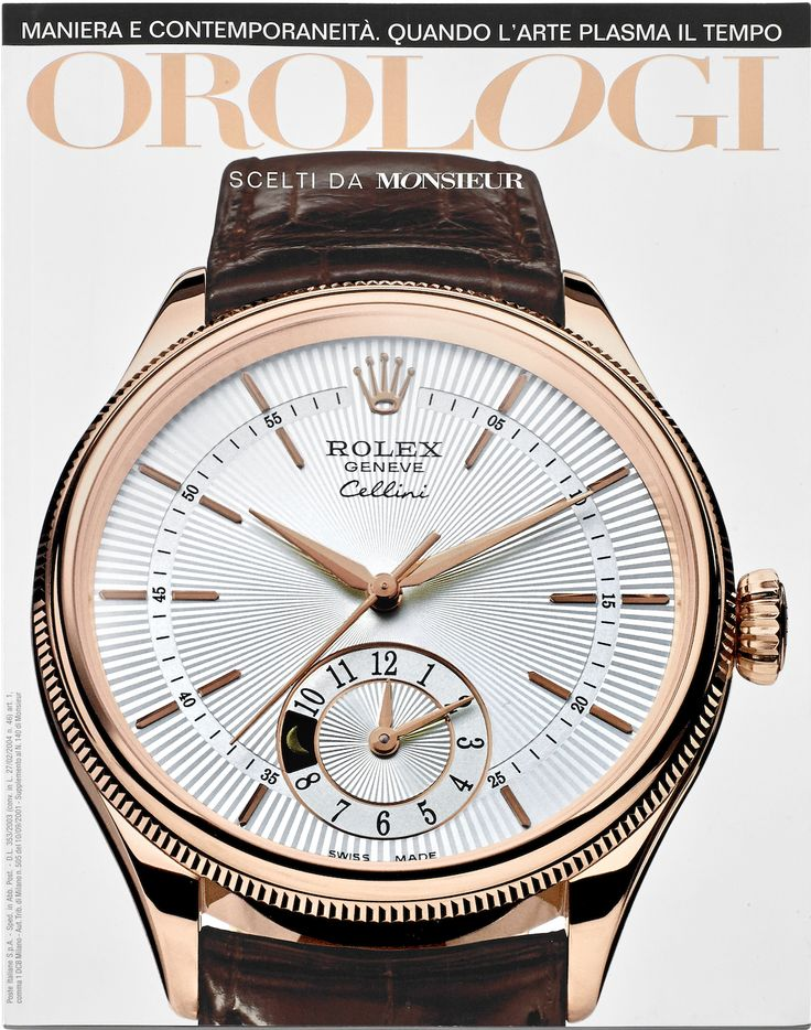 Orologi (insert of Monsieur Italy magazine), front cover showing a version in red gold of Rolex Cellini 2015 edition.