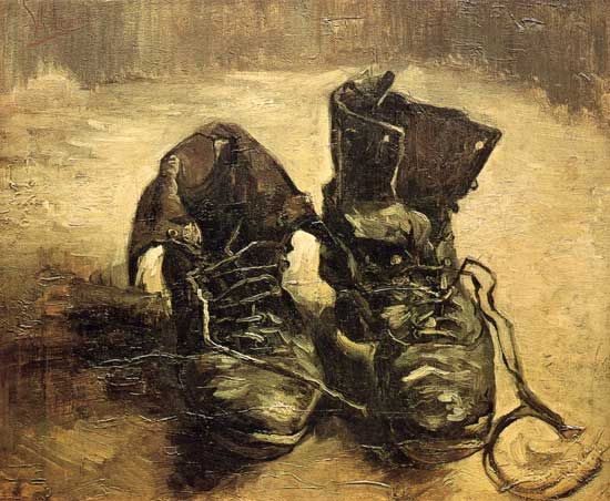 van gogh boots | Vincent van Gogh: Boots with Laces, 1886. Hard work and poverty are ...: