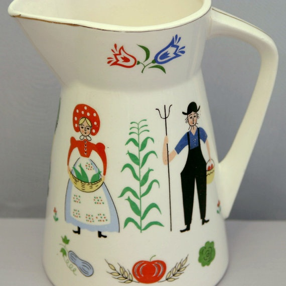 Penn Dutch Pitcher from Royal Sealy Japan by ZoeDesignsVintage, $10.00