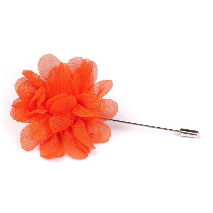 Tangelo Orange Lapel Flower | Suit Lapel Flower Pins | The Brothers at OTAA | OTAA.COM