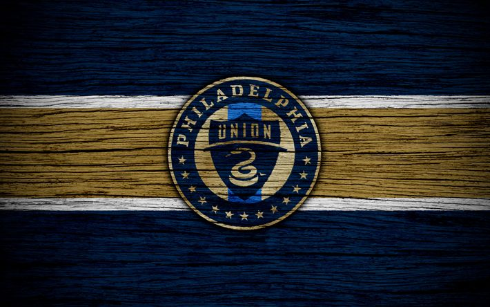 Download wallpapers Philadelphia Union, 4k, MLS, new logo, wooden texture, Eastern Conference, Philadelphia Union new logo, football club, USA, Philadelphia Union FC, soccer, FC Philadelphia Union