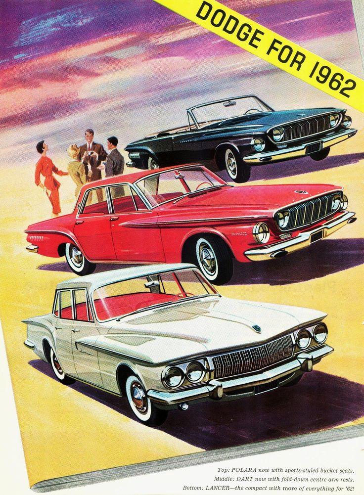 The 1962 Dodge Polara, Dart & Lancer lineup.