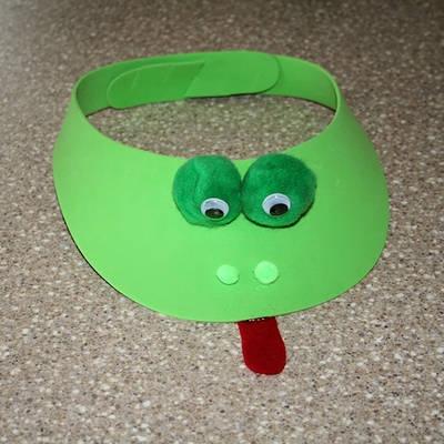 Frog Craft Foam Visor
