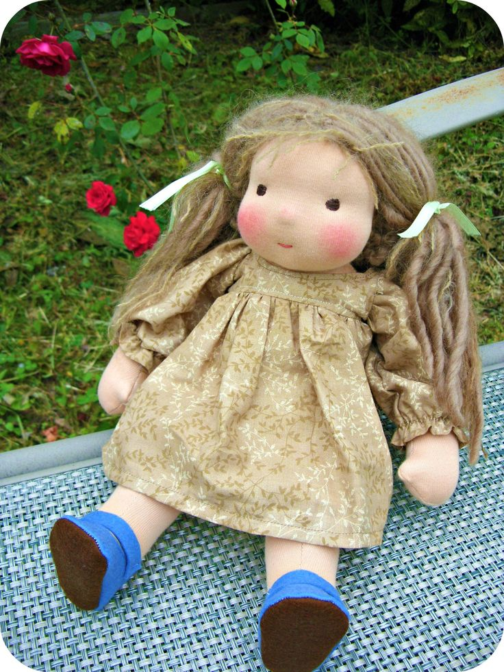 """12"""" Rose Waldorf doll. Good thing I didn't know about these when my Morgan was a wee one!"""