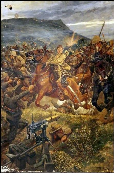 The 5th Royal Irish Lancers charge the Boers at Elandslaagte - 2nd Anglo-Boer War.