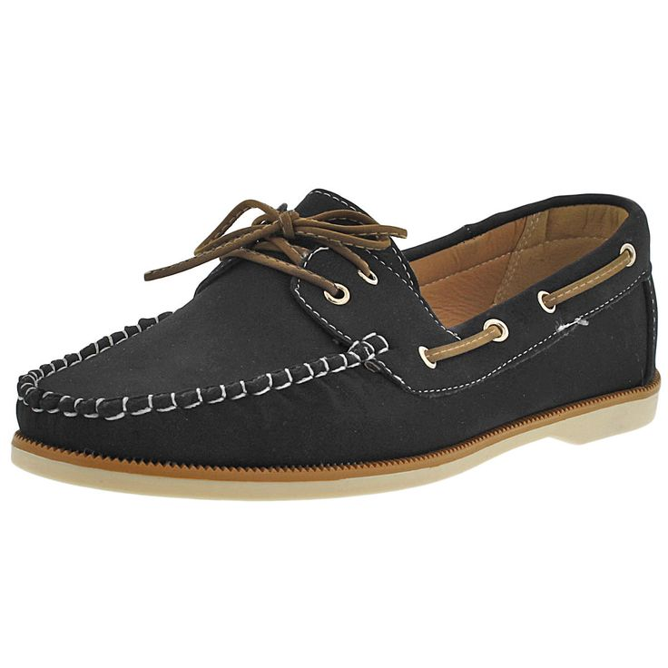 One o One - Women's Boat Shoe - Black