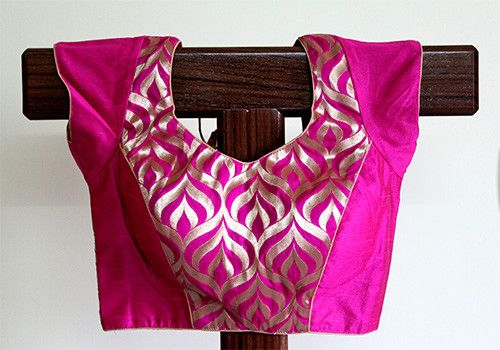 Pink Blouse with Zari