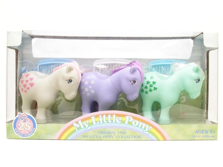 My Little Pony 25th anniversary set featuring Snuzzle, Blossom and Minty