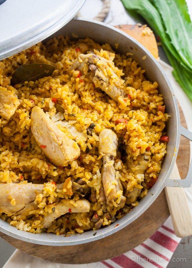 Arroz con Pollo (Chicken and Rice) - The Noshery