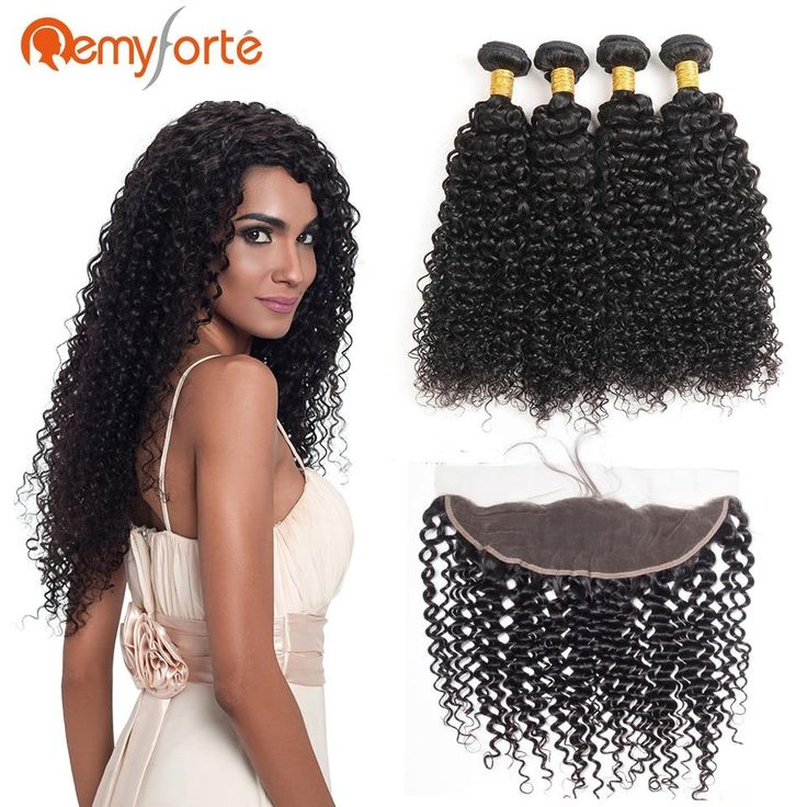 Remy Forte Human Hair Curly 4 Bundles With Ear To Ear