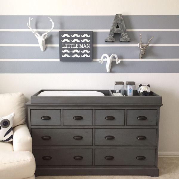 baby ashtons nursery reveal by blogger shay mon changing table dresserchange tablesthe stripesnursery ideasnursery