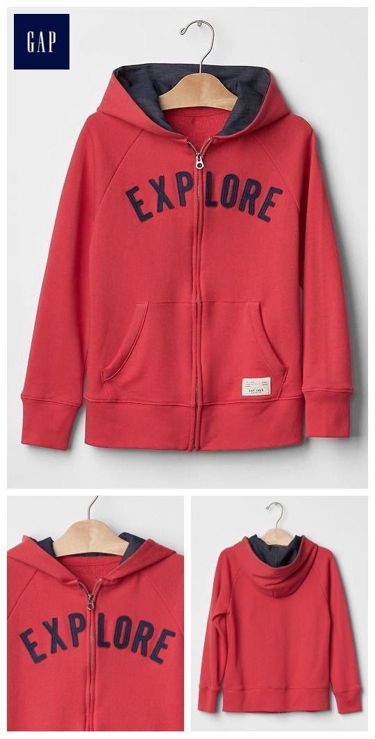 Patch zip hoodie