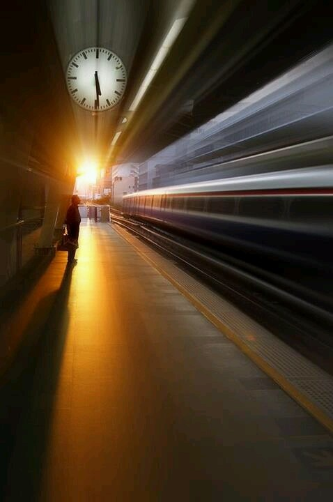 an image of a feeling in the play, someone missing a train ...
