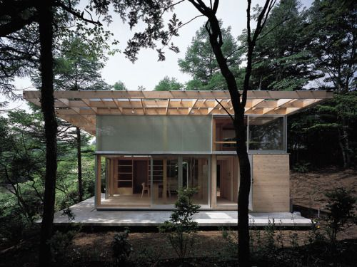 reference for Woodworking - subtilitas: Kazunari Sakamoto -  Hut T, Lake...