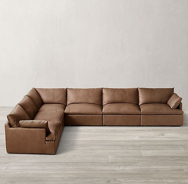 Rh Leather Sectional Sofas Cloud Couch Sectional