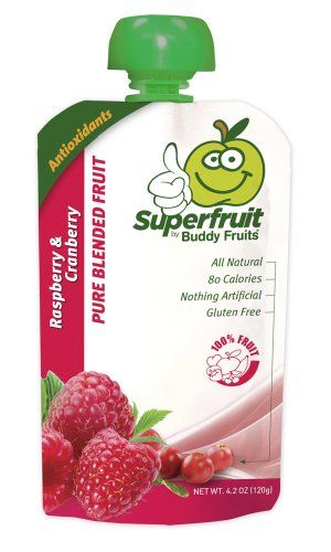 Buddy Fruits Superfruit, Raspberry/ Cranberry, 4.2-Ounce (Pack of 18), Buddy Fruits super fruit is a unique pouch which combines exceptional nutrient richness and antioxidant quality with appealing taste. Same texture as a Smoothie, perfect as a snack on the go, for brea..., #spout #pouches for more information visit us at  www.coffeebags.co.za
