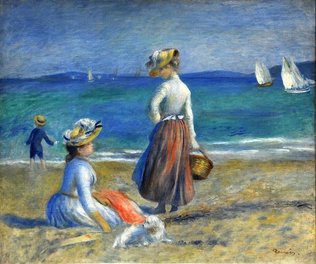 Pierre-Auguste Renoir - Figures on the Beach, 1890