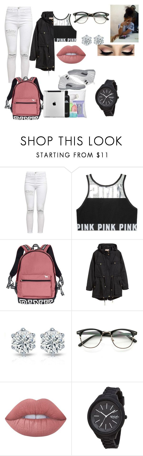 """""""Contest"""" by bigdaddycam43 ❤ liked on Polyvore featuring Victoria's Secret, H&M, Lime Crime and Rip Curl"""