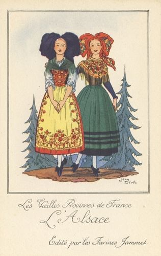 Carte postales anciennes Costume-d-alsace