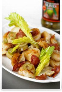 Try an Amazing tasty #recipe!Tossed Warm Scallop,bacon and new Potato salad with #Olives!