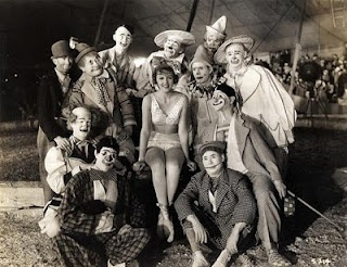 A group of 11 circus clowns poses with a pretty young female performer in a circus  sc 1 st  Pinterest & 103 best Vintage Circus // Acrobats images on Pinterest | Circus ...
