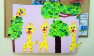 giraffe bulletin board
