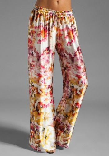 Karina Grimaldi Maui Print Pant In Agua floral del color
