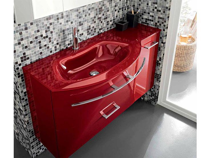 Как Вам идея использования красной ❤ раковины в ванной ? Если в однотонную комнату добавить яркий элемент, она сразу же преобразится.  Поскольку в ванной мы проводим не так много времени, даже самая необычная и яркая расцветка в интерьере этой комнаты не успеет надоесть. #акция #скидка #плитка #сантехника  Выбираем на сайте: http://santehnika-tut.ru  #дизайн #интерьер #стиль #ванная #сантехника #плитка