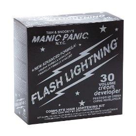 Manic Panic Flash Lightning Hair Lightening Kit, (hair bleach, hair dye, manic panic, bleach, hair color, hair care, dye, dying, loreal, crazy hair dye)