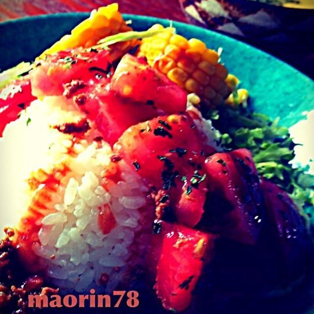 夏には必ず⭐食べたい、タコライス (O´∀`K)b スパイシー&チリソースがたまらないですね(ノ∀`笑)) - 96件のもぐもぐ - 冷製かぼちゃスープ⭐スパイシータコライス  (*Vдv艸) by Manami Fugikawa