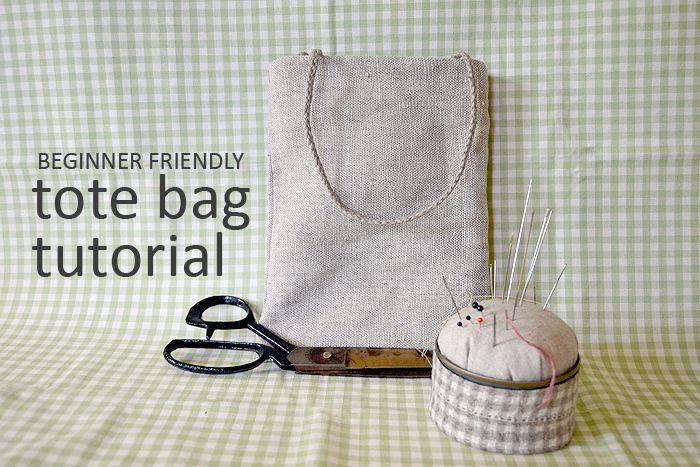 Beginner friendly lined tote bag tutorial (sewing)