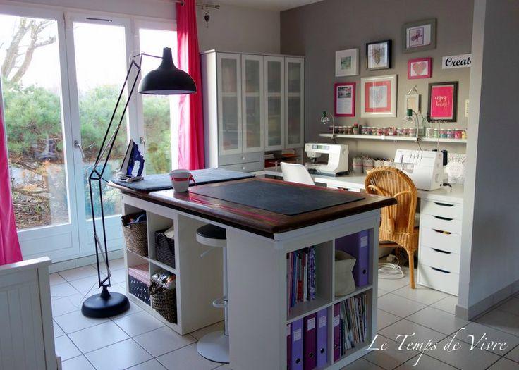 Les 25 meilleures id es de la cat gorie rangement atelier sur pinterest rangements atelier - Table couture ikea ...