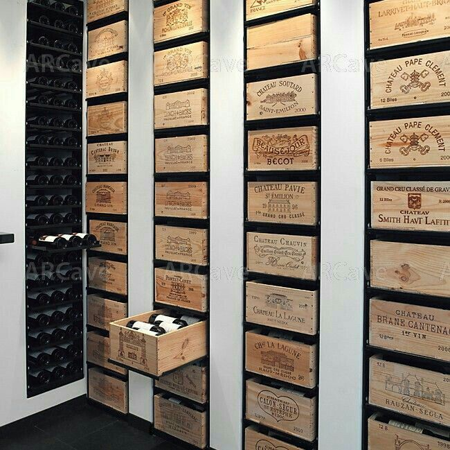 Great storage idea. I think I have cellar envy! Great wines on show.
