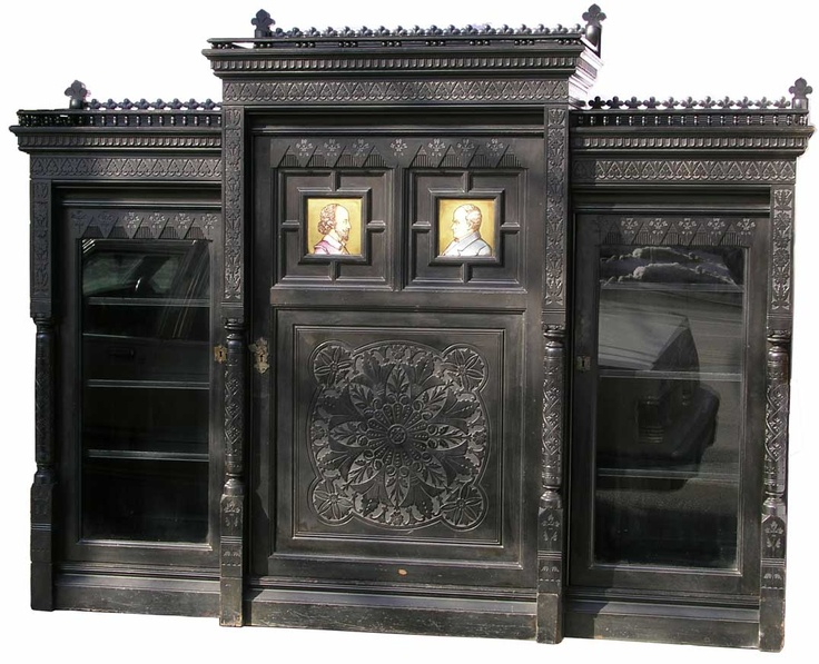 290 best aesthetic movement images on pinterest for Gothic cabinet craft new york ny