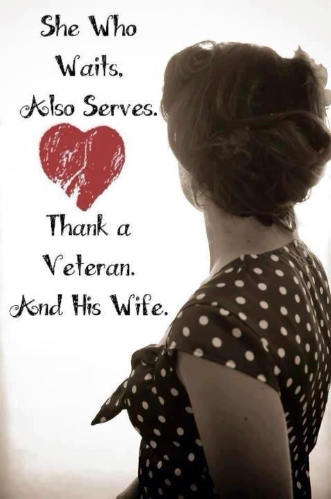 Thank a veteran and his wife (or a veteran and her husband)