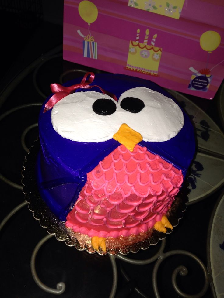 Cute Diy Owl Cake Not Too Difficult But So Cute Good